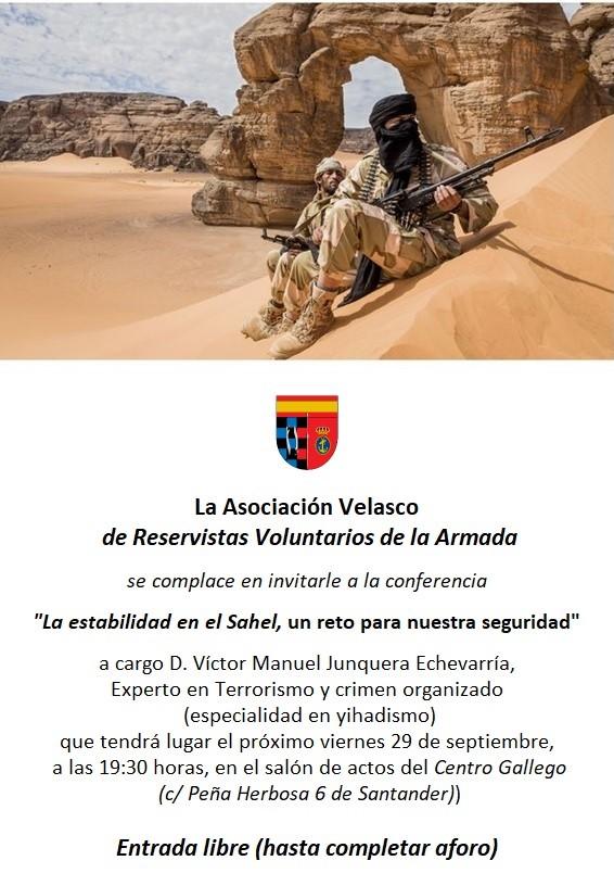 Invitacion conferencia la estabilidad en el Sahel